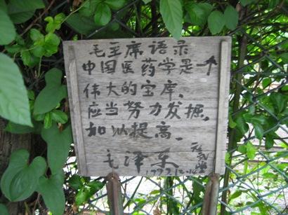 目白駅付近にある道路沿い 毛沢東の語録を発見_d0027795_8501649.jpg