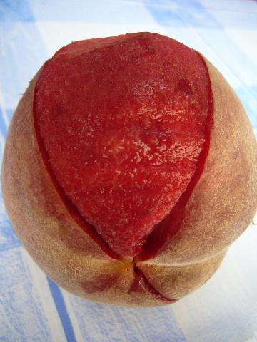■赤い桃(PECHE DE VIGNE)_a0014299_0443919.jpg