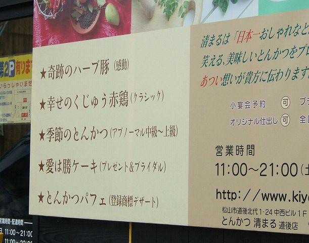 とんかつ清まるにてとんかつパフェを食す~愛媛帰省旅雑記_e0089232_1751025.jpg