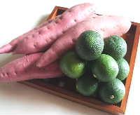 すだちパスタとサツマイモの豆乳ポタージュ_e0086864_18411617.jpg
