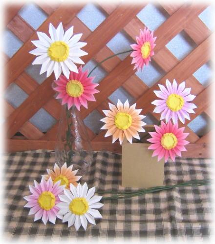 ハート 折り紙:立体折り紙花-kun9393.exblog.jp