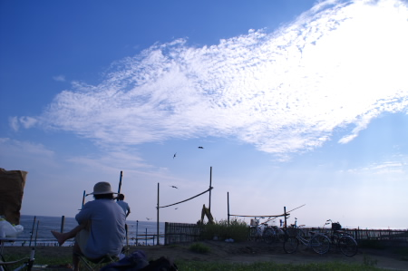 夏の終わりに海で肉を焼く_c0006767_1291911.jpg