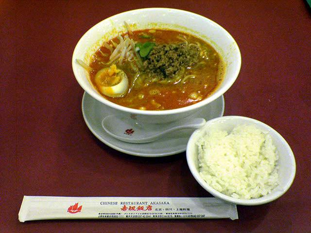 赤坂飯店 銀座松坂屋店 坦々麺_a0016730_16522485.jpg
