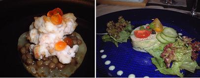 『ビストロ・ド・ヨシモト』のアミューズと冷たい前菜