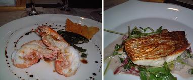 『ビストロ・ド・ヨシモト』のあたたかい前菜と魚料理
