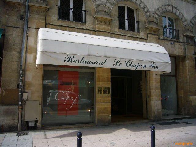 【レストラン】LE CHAPON FIN(BORDEAUX)_a0014299_227355.jpg