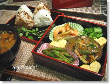 夜弁2・肉団子の野菜あんかけ_a0056451_13472952.jpg