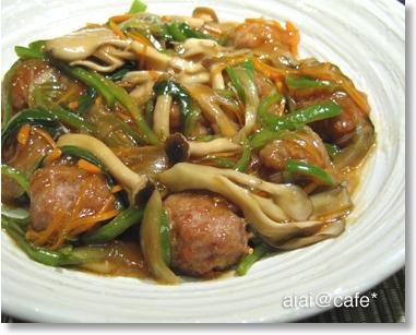 夜弁2・肉団子の野菜あんかけ_a0056451_1352440.jpg