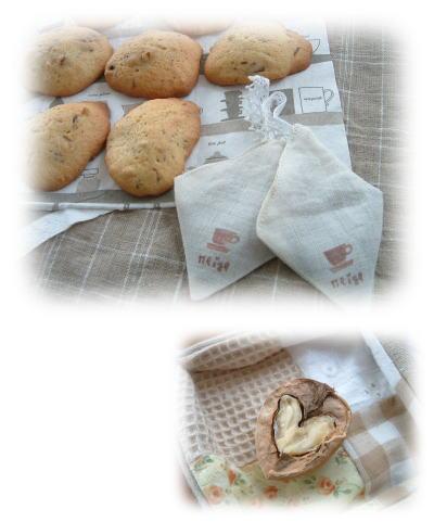 リネンのコーヒーバック!?&くるみのクッキー_f0023333_22252412.jpg