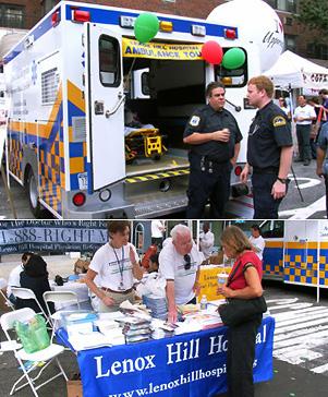 病院の出店を発見-NYのストリートフェア_b0007805_846853.jpg