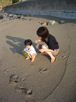 はじめて海に入りました_d0080906_9133083.jpg