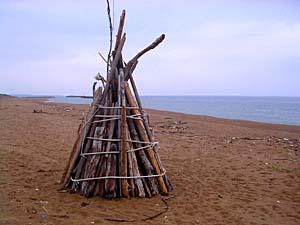 浜辺のアート・その1_c0019338_9554824.jpg