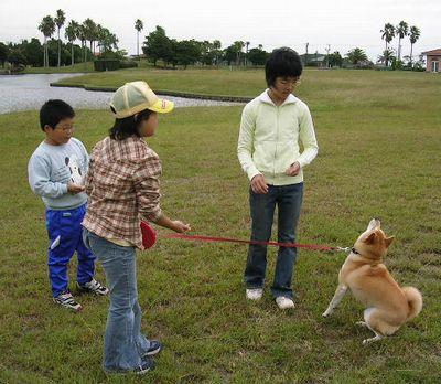 2006年10月15日(日)・・・龍平君姉妹と愛ちゃん_f0060461_20565820.jpg