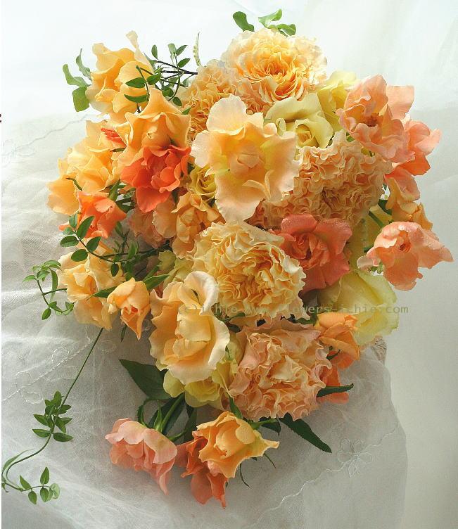 ブーケ クラッチ オレンジという光のバラ  _a0042928_20383060.jpg