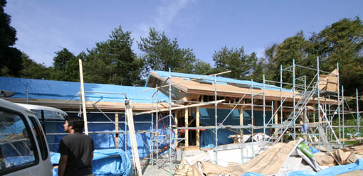 Q1前沢の家09 : 軸・屋根検査1_e0054299_18112734.jpg