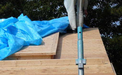 Q1前沢の家10 : 軸・屋根検査2_e0054299_18471230.jpg