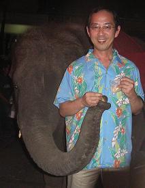 象とふれあうバンコクナイト_c0030645_21242748.jpg