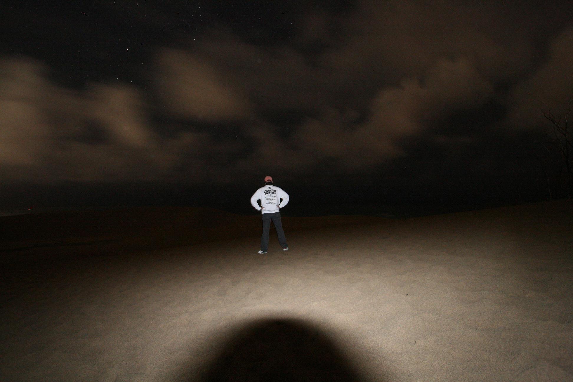 夜の鳥取砂丘_b0001143_1374866.jpg