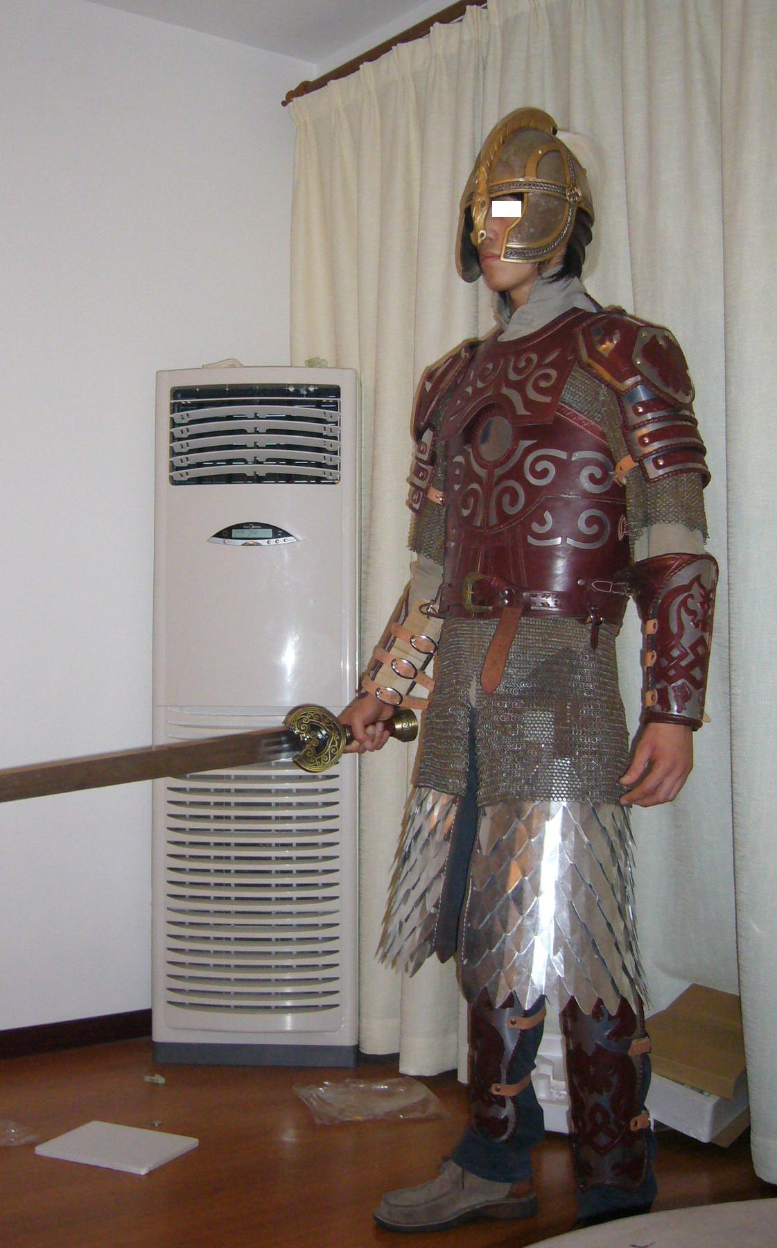 height 6 1 feet 184 cm eomer armor. Black Bedroom Furniture Sets. Home Design Ideas