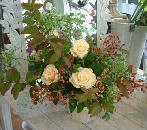 オークリーフ花の教室(長野さんの作品)_f0049672_1250173.jpg