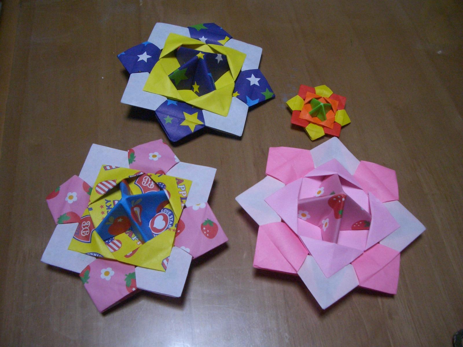 折り紙の 折り紙のコマの作り方 : 面白いので皆さんも是非作って ...