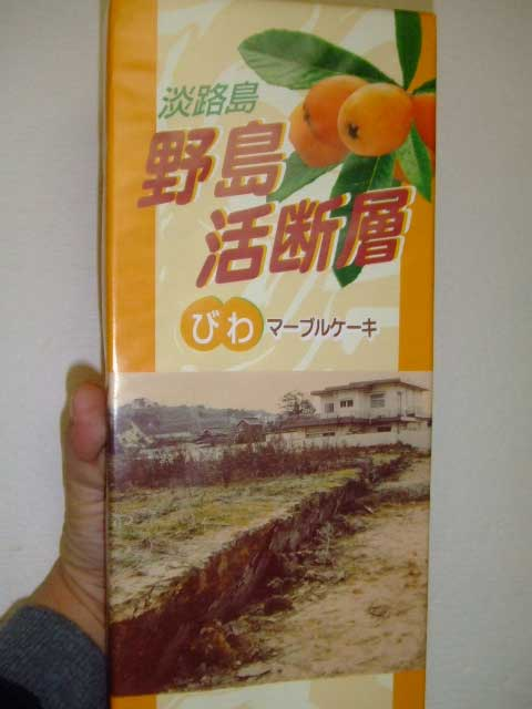 淡路島銘菓 「野島活断層」マーブルケーキ_b0054727_23242766.jpg
