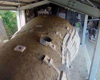 窖窯/上土塗り_c0081499_22415879.jpg