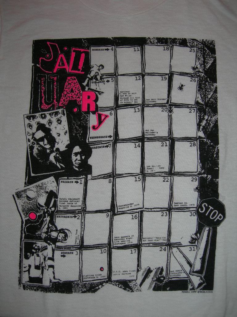 POWELL カレンダー Tシャツ_c0078333_1371910.jpg