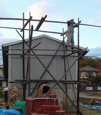窖窯を作る/足場_c0081499_21231520.jpg