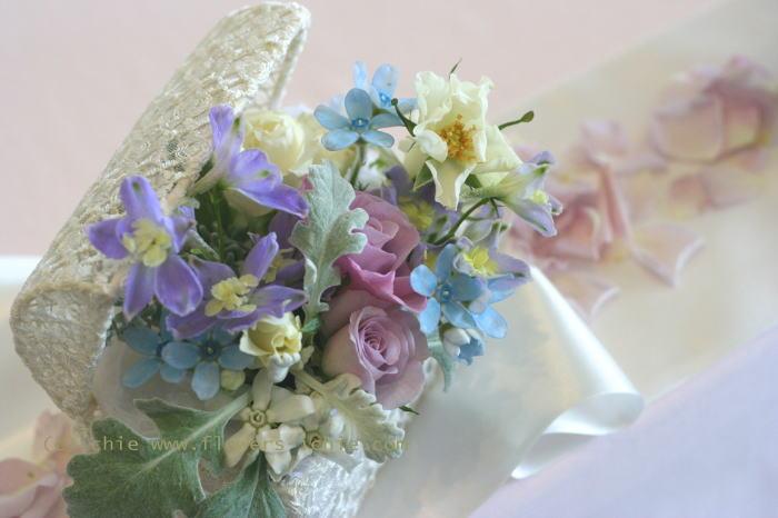 シェ松尾天王洲倶楽部様 冬 青と紫の装花_a0042928_1194957.jpg