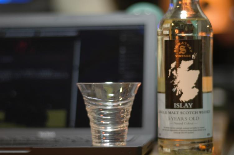 冬の酒、久しぶりのラガヴーリン_f0042194_252127.jpg