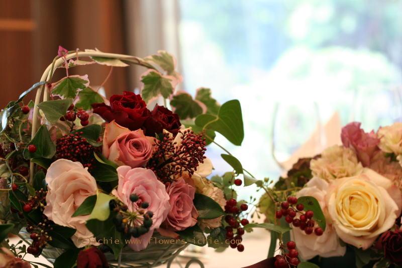 ホテルニューオータニ様の装花 セピアピンク _a0042928_0535545.jpg
