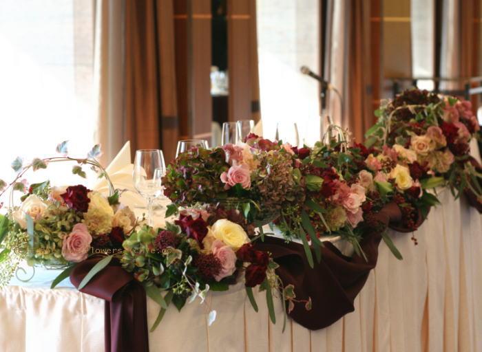ホテルニューオータニ様の装花 セピアピンク 2_a0042928_22461810.jpg