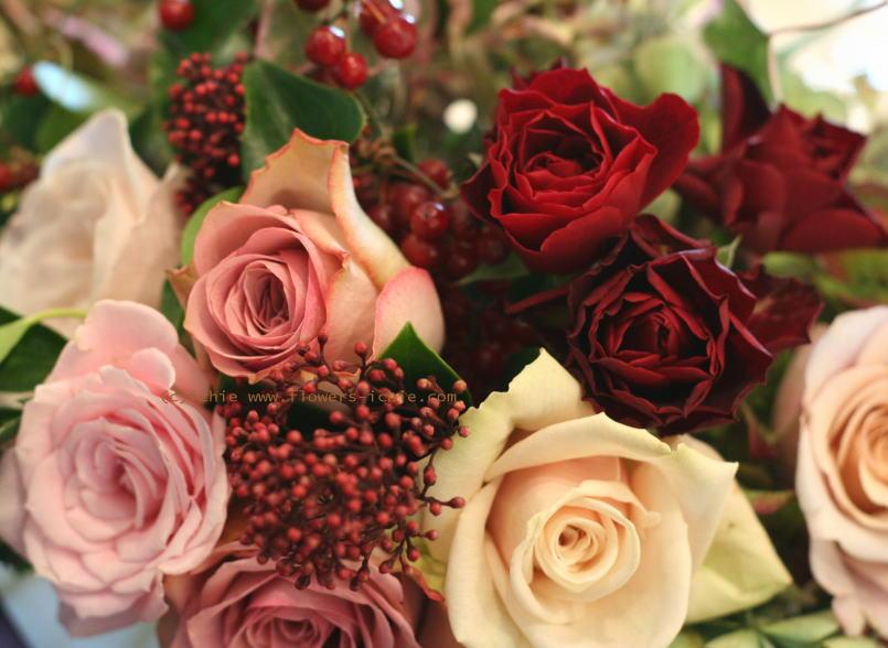 ホテルニューオータニ様の装花 セピアピンク 2_a0042928_2246879.jpg