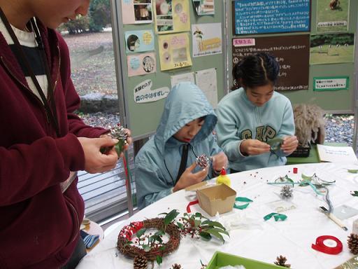 「クリスマスリース・しめ縄作り」イベントを開催しました☆_b0049307_10493746.jpg