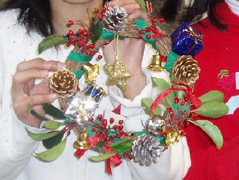 「クリスマスリース・しめ縄作り」イベントを開催しました☆_b0049307_10505389.jpg
