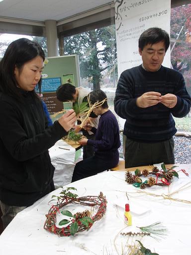 「クリスマスリース・しめ縄作り」イベントを開催しました☆_b0049307_1102740.jpg