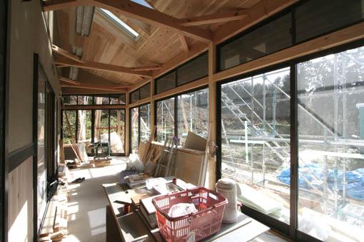 Q1前沢の家14:外装・内装工事_e0054299_17334585.jpg