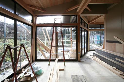 Q1前沢の家14:外装・内装工事_e0054299_17335423.jpg