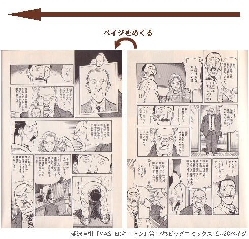 浦沢直樹『MASTERキートン』第17巻ビッグコミックス19~20ペイジ