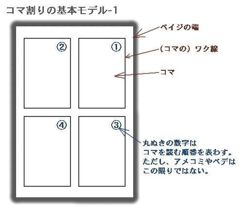 コマ割りの基本モデル-1