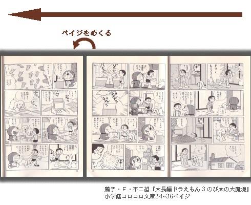 藤子・F・不二雄『大長編ドラえもん 3 のび太の大魔境』小学館コロコロ文庫34~36ペイジ