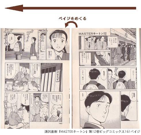 浦沢直樹『MASTERキートン』第12巻ビッグコミックス161~162ペイジ