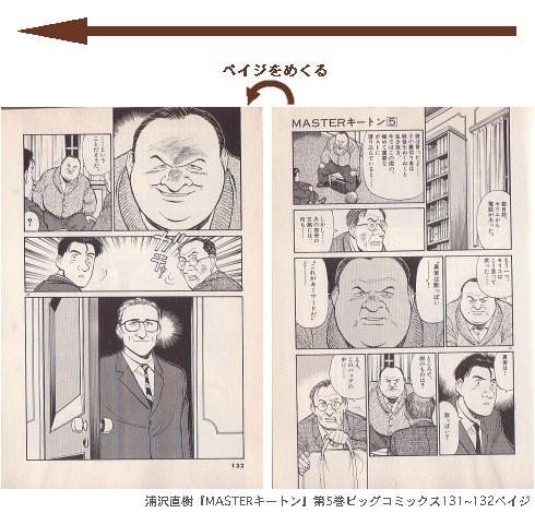 浦沢直樹『MASTERキートン』第5巻ビッグコミックス131~132ペイジ