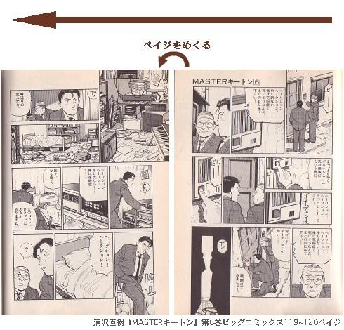 浦沢直樹『MASTERキートン』第6巻ビッグコミックス119~120ペイジ