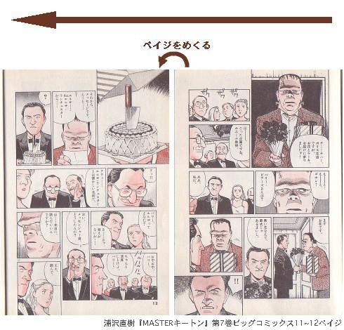 浦沢直樹『MASTERキートン』第7巻ビッグコミックス11~12ペイジ
