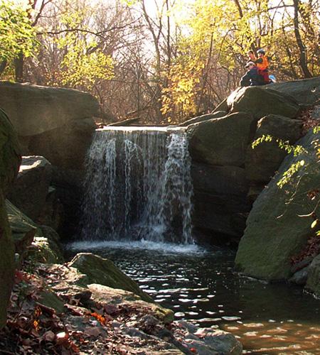 マンハッタンで秘境を探検!~ セントラルパークにある滝 Ravine_b0007805_2533460.jpg