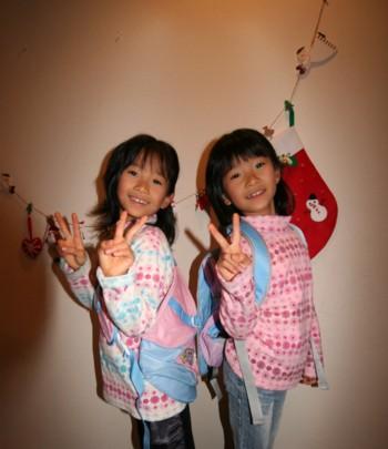 双子のayaとrei、お兄ちゃんに★サンタさんが来た~♪★_d0082356_1271456.jpg