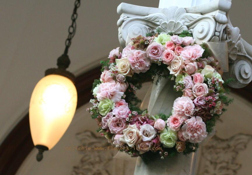 マダムトキ様の装花 キャンドルと宝石箱2_a0042928_1235098.jpg