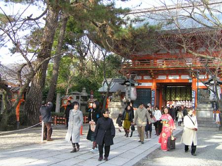 八坂神社 かるた始め_e0048413_19502180.jpg